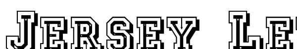 Jersey Letters шрифт