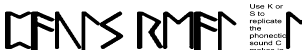Pauls Real Celtic Rune шрифт
