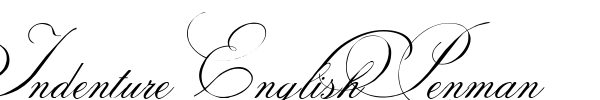 Indenture English Penman шрифт